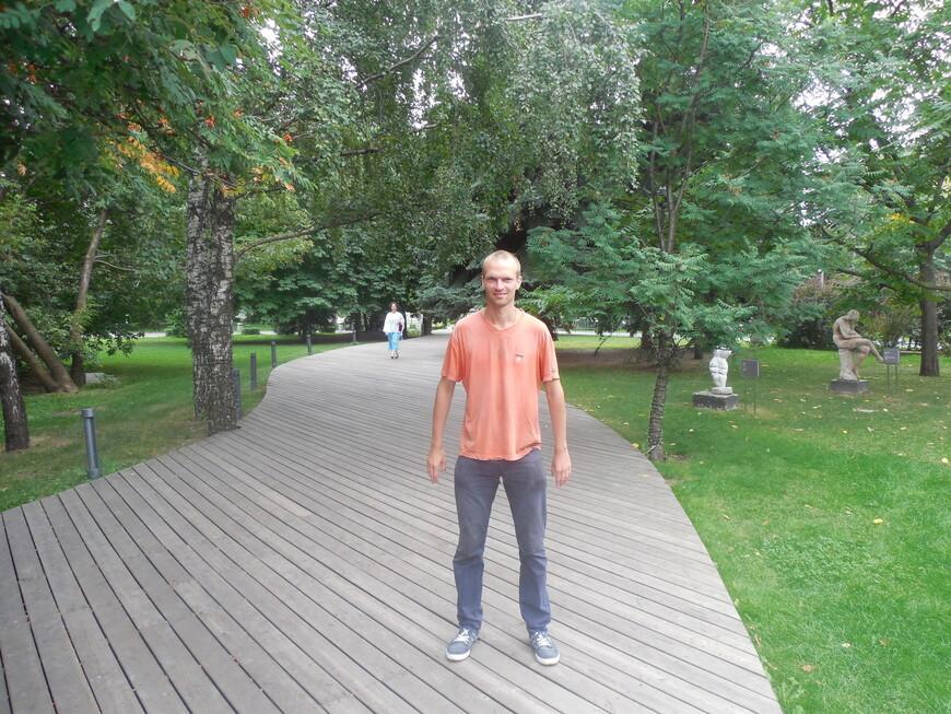 Парк искусств «Музеон» - деревянная пешеходная дорожка