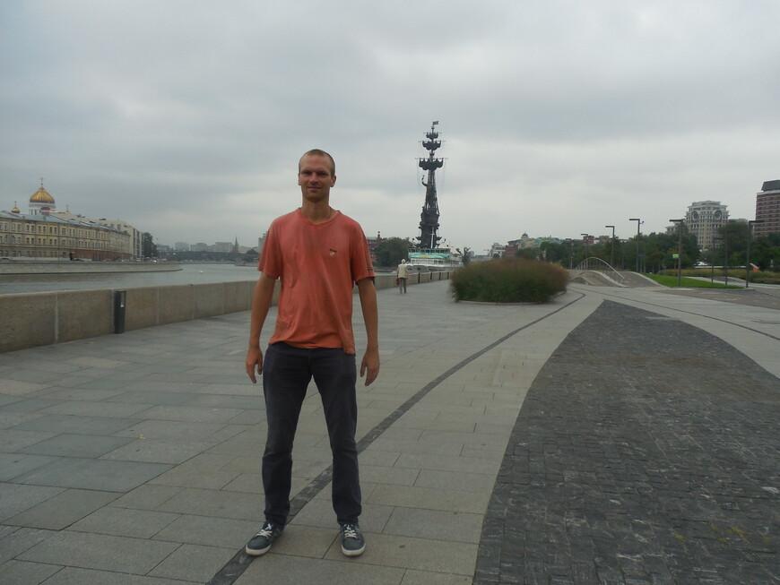 Крымская набережная - корабль «Валерий Брюсов», памятник Петру I и Москва-река