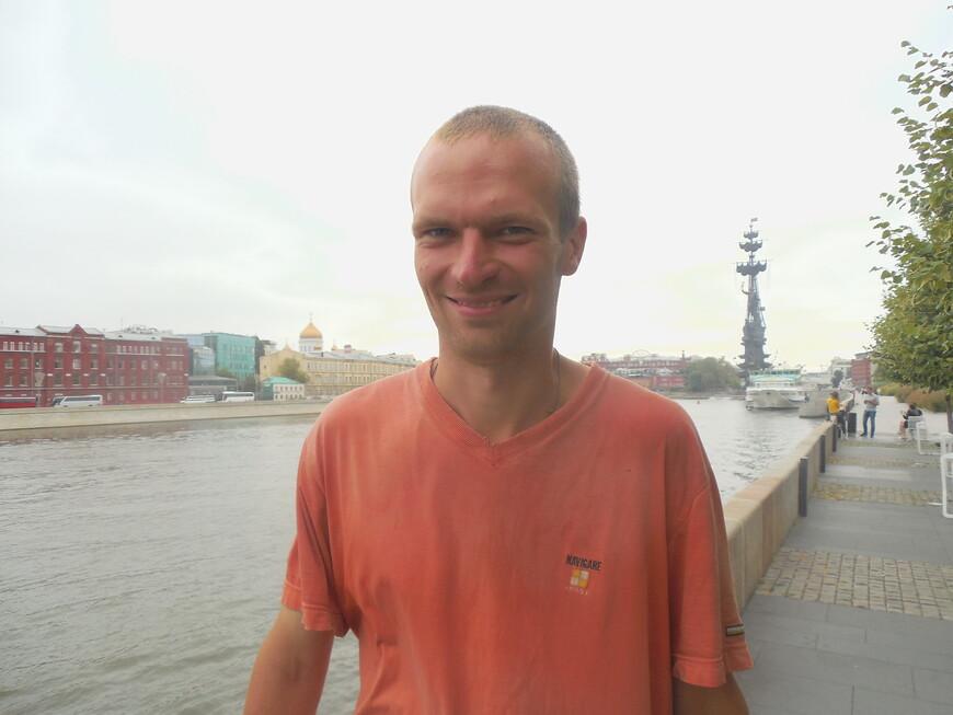 Крымская набережная - памятник Петру I и Москва-река