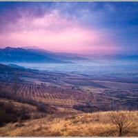 Пасмурный закат около Зоракана.