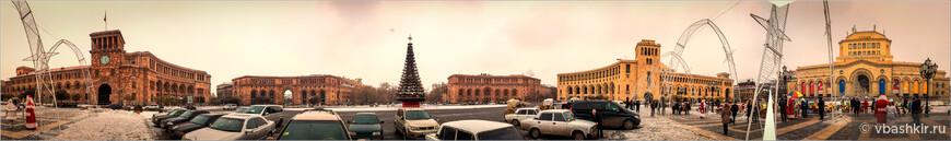 Ереван. Панорама площади Республики. (Нажмите на нее).