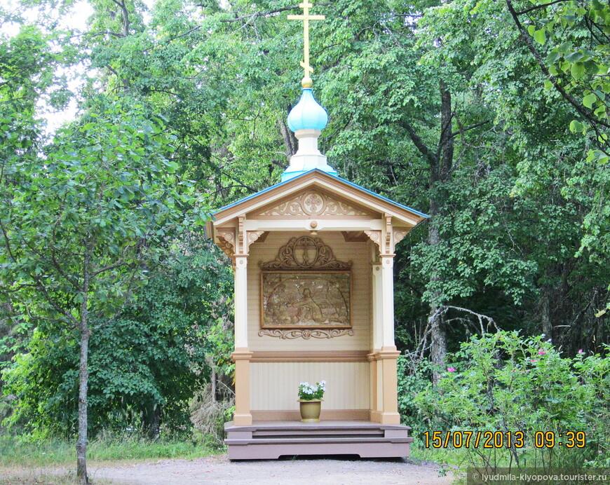 """Рядом с Гефсиманским скитом находится небольшая деревянная часовня, где можно увидеть икону """"Моление о чаше""""."""