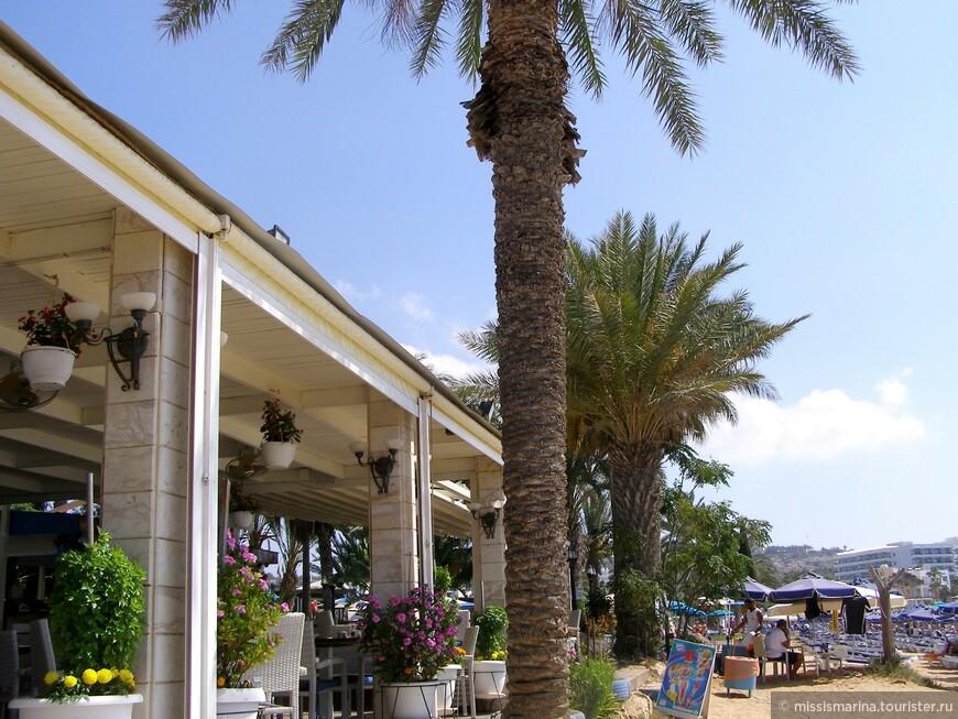 Вдоль всего пляжа открыты различные магазинчики и закусочные, где можно купить напитки и перекусить.