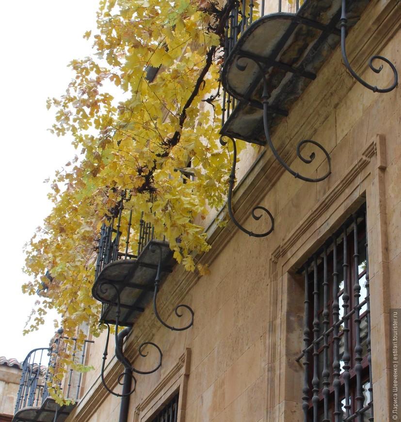 Романтические балкончики на старых улицах Саламанки