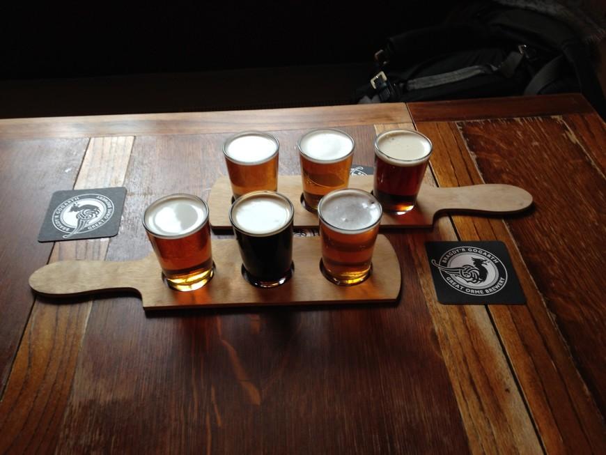 И снова пиво. Уже валийское, в городе Конви.