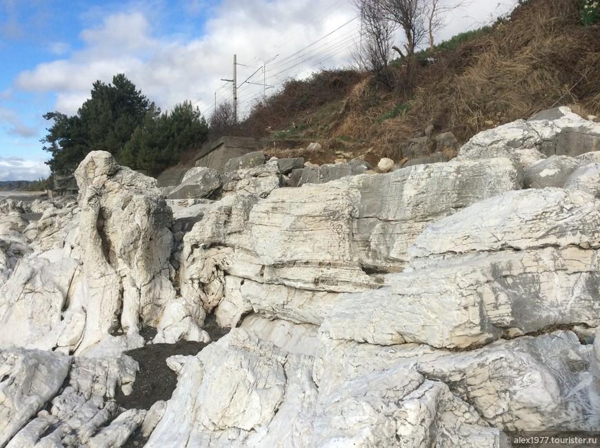 Вид на Белые скалы со стороны моря!