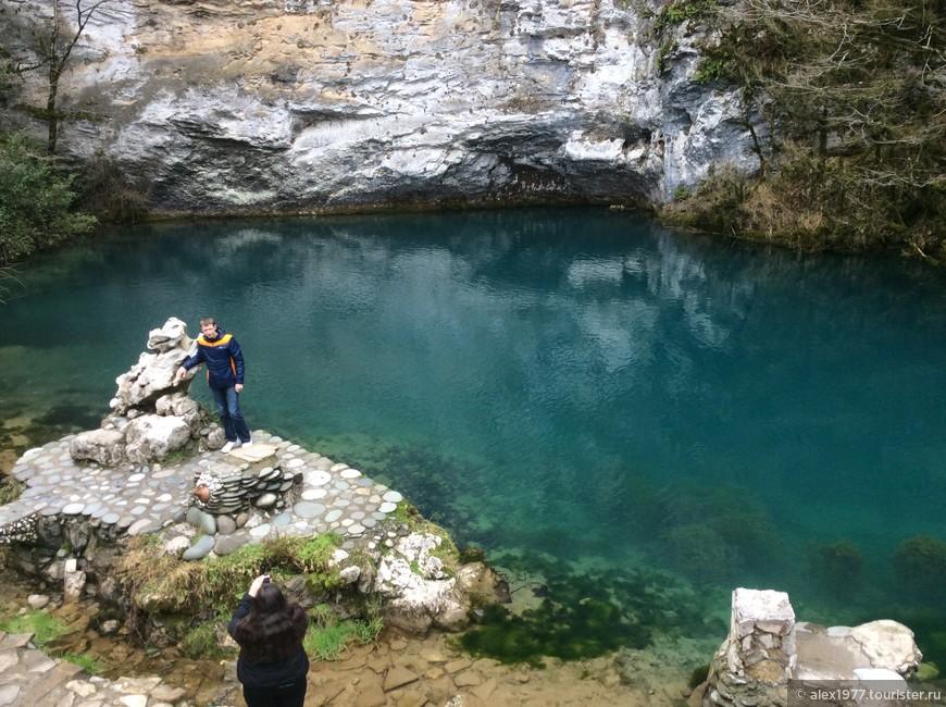 Красивейшее голубое озеро!