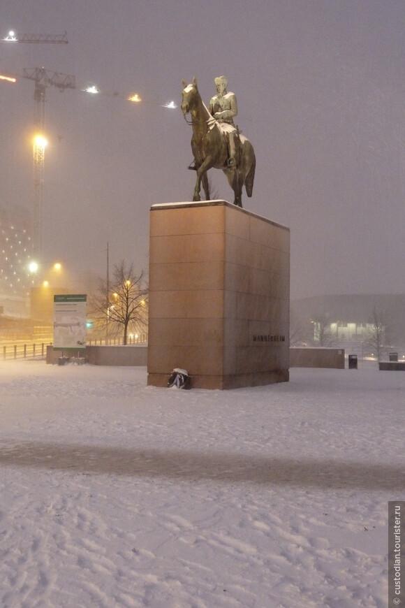Памятник Маннергейму. Маршал Маннергейм был выдающимся политическим и военным деятелем Финляндии, а также президентом Финляндии в середине 40-х годов прошлого столетия.