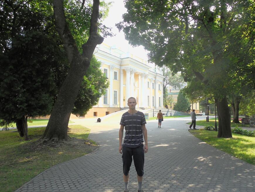 Парк Гомельского дворцово-паркового ансамбля (Гомельский парк имени Луначарского): дворец Румянцевых и Паскевичей