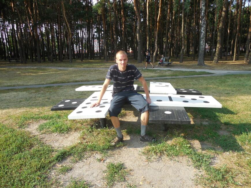Фестивальный парк - скамейка «Домино»