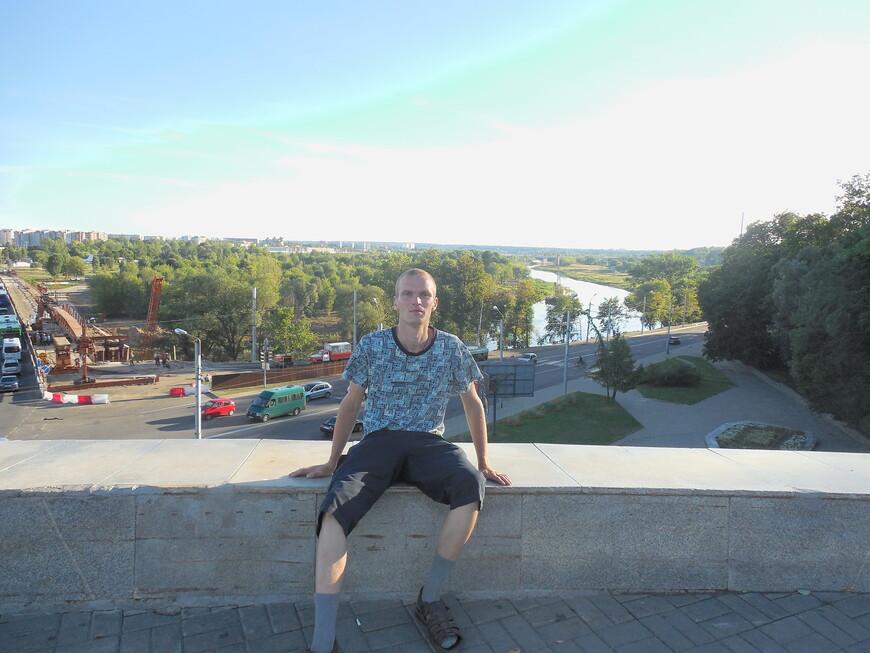 Площадь Славы (Советская площадь) - вид на Днепр и на спальные районы (Заднепровье)