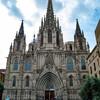Главный фасад Кафедрального Собора Святого Креста и Святой Эулалии