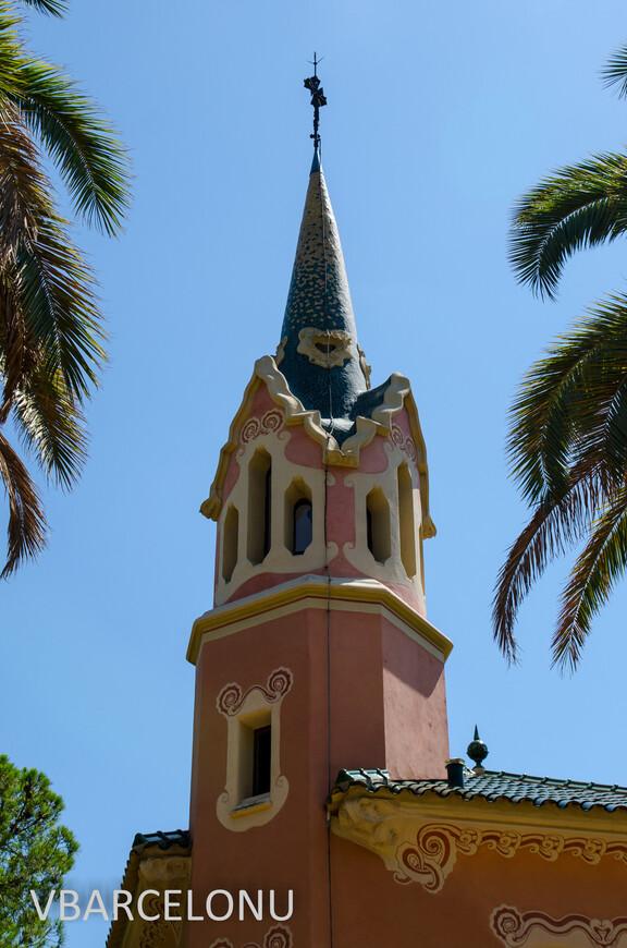 Дом самого Антонио Гауди в Парке Гуэль. Башня над входом