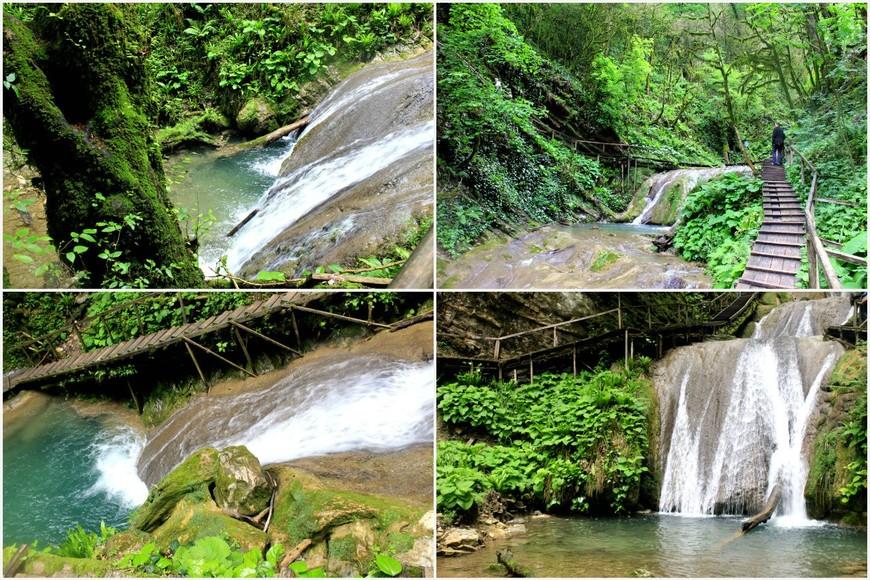 33 водопада, замечательное место. Тридцать три водопада — горное ущелье в Лазаревском районе города Сочи. Находится в урочище Джегош, в долине реки Шахе, в 4 км севернее адыгского посёлка Большой Кичмай. Вход платный - 100 рублей.