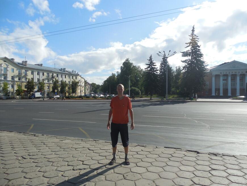 Площадь Ленина и Витебская областная филармония