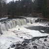 водопад на реке Кейла зимой