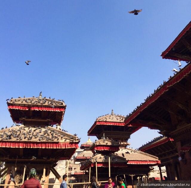 Площадь Дурбар. Основная достопримечательность столицы Непала, Катманду.