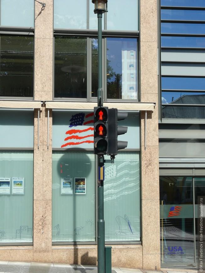 """ословская фишка - пешеходные светофоры с двумя """"красными"""""""