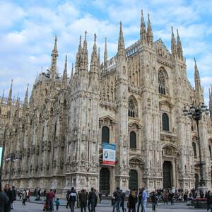 Пламенеющая готика Миланского Дуомо.
