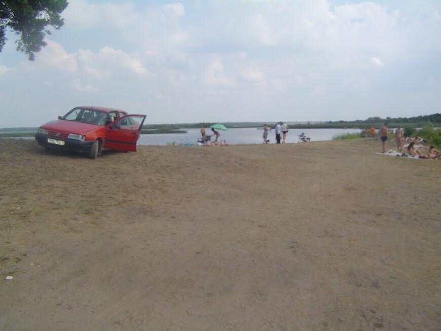 Озеро Селява - коса у кладбища
