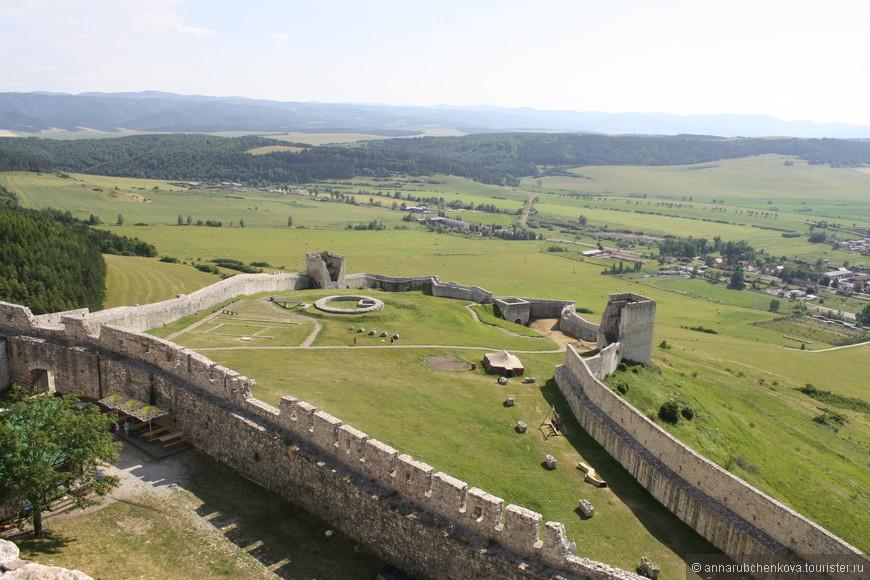 Нижняя часть замка. С башни  кажется совсем компактной, а вспомните, какая громадина была при взгляде снизу.