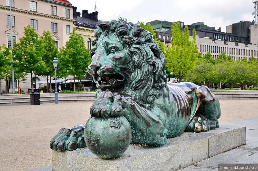 Статуя Карла XIII в парке Кунгстрэдгорден