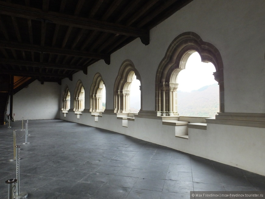 Замок Вианден, открытые галлереи