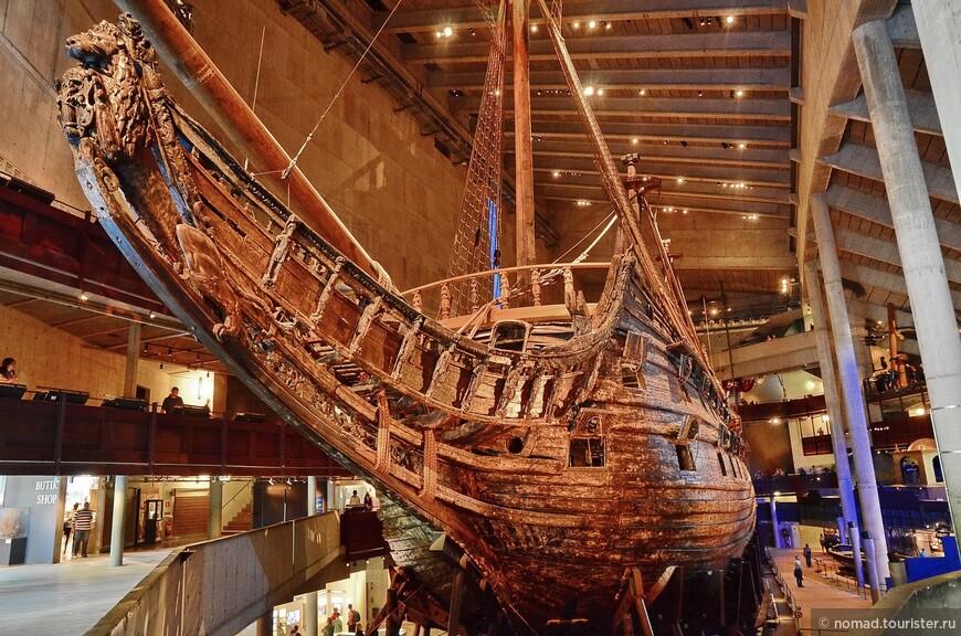 Корабль весил 1200 тонн, и был вооружен 64 пушками, которые стреляли одинадцатикилограмовыми ядрами.