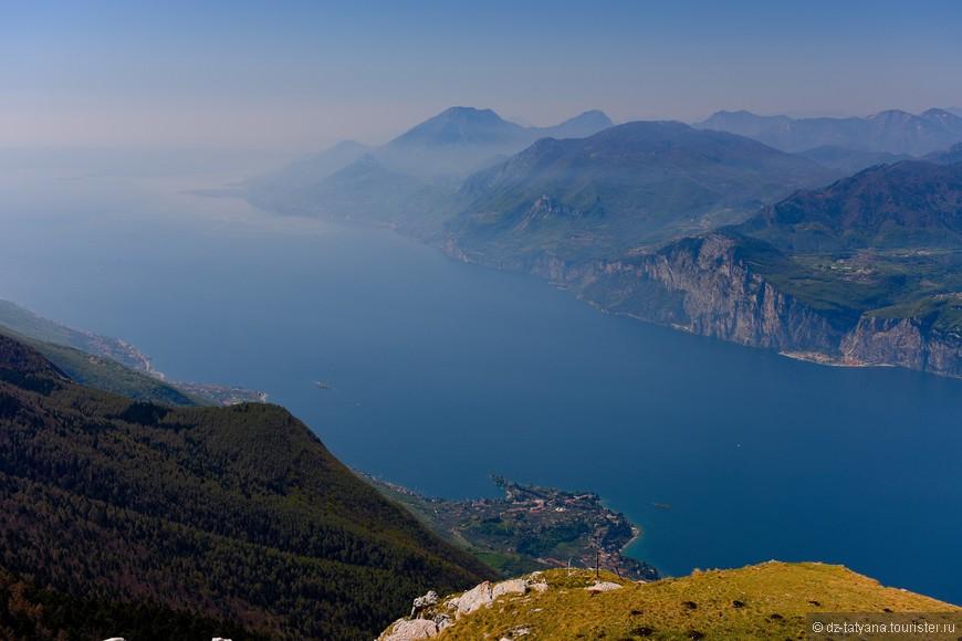 Озеро Гарда с высоты 1800м