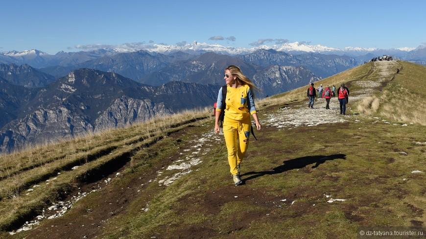 На вершине Монте Бальдо