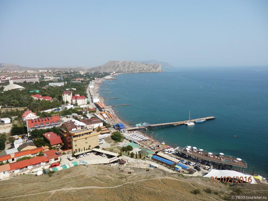 Судакская бухта со смотровой площадки крепости