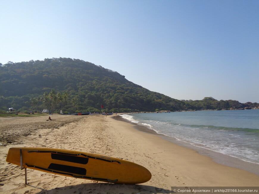 Южная оконечность пляжа в Агонде