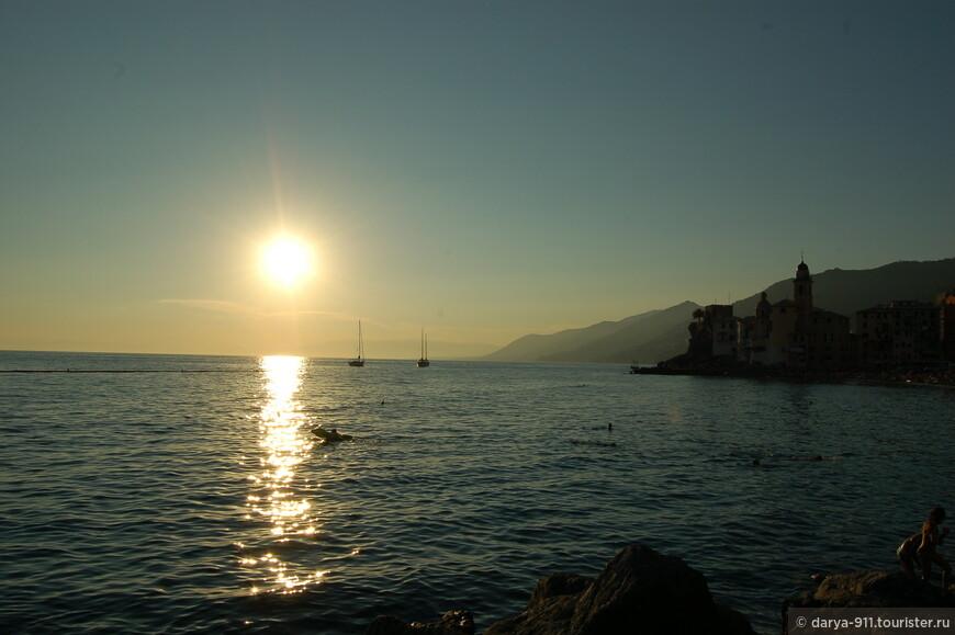 ласковое солнце на закате