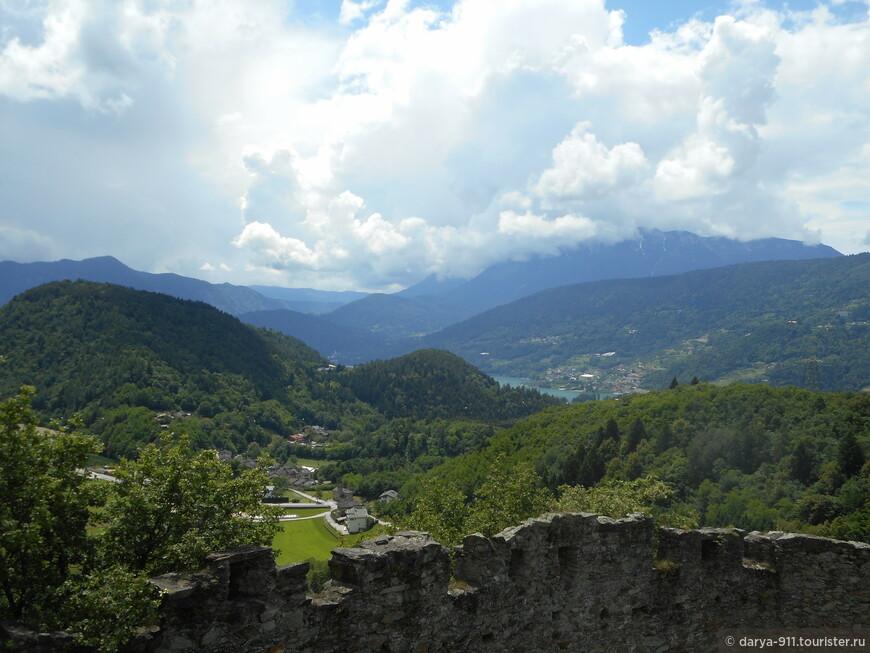 вид на lago di Caldonazzo