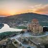 Вид на монастырь Джвари и Мцхета