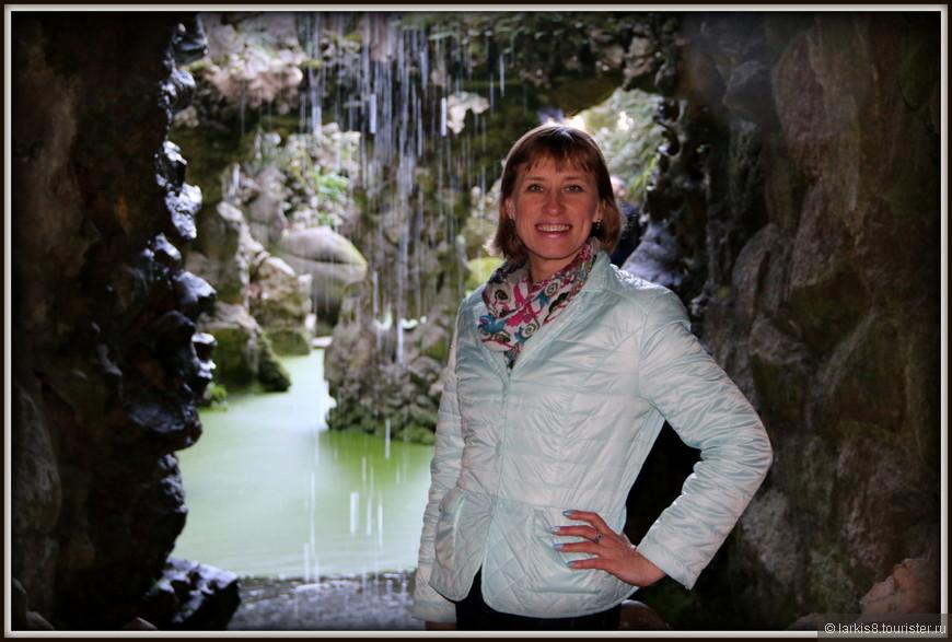Но мы вышли к прекрасному водопаду, который уже видели снаружи, чему были очень рады!