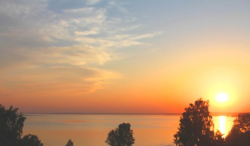 Закат над Обским морем!