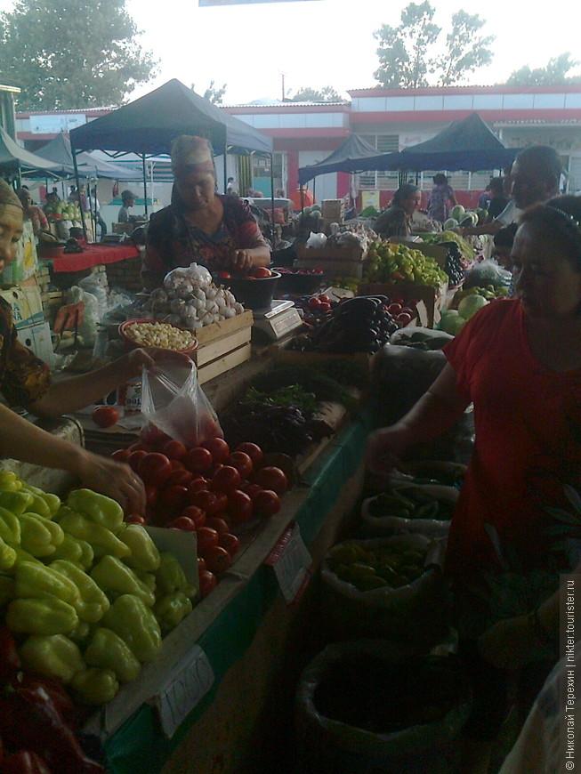 Цены на базаре намного ниже чем в России ...
