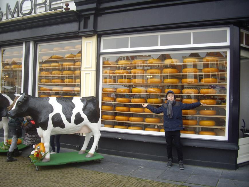 Магазин сыров с дегустацией на площади Делфта.