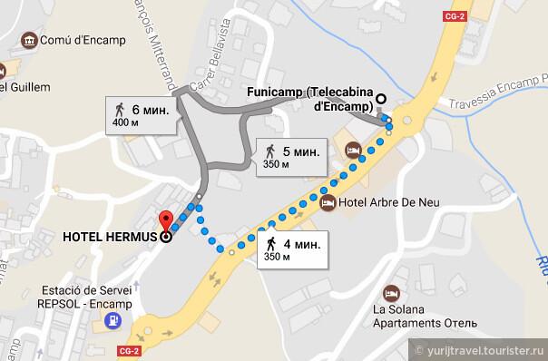 У отеля Hermus очень удачное расположение - до подъемника Фуниками всего 350 метров, которые можно либо пройти пешком, либо проехать одну остановку на автобусе.