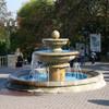 фонтан на входе в курортный парк