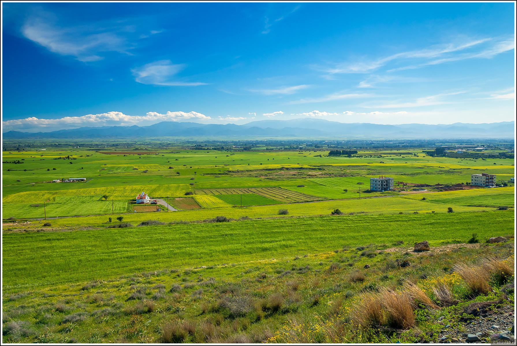 Равнина Морфу., Весенний Кипр