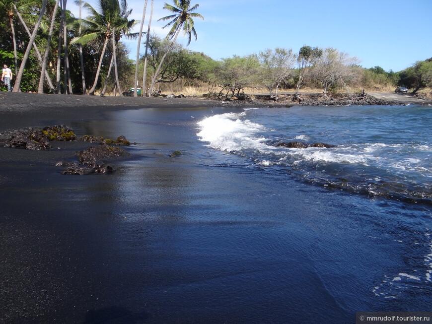 "PUNALU""U BLACK SAND BEACH"