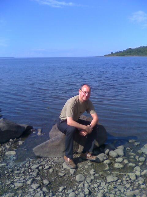На берегу Рыбинского моря.