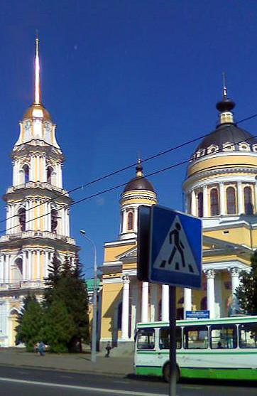 Спасо-Преображенский кафедральный собор и колокольня.