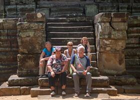 Мы и наши дорогие гости в Камбодже