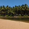 Озеро на пляже Кола