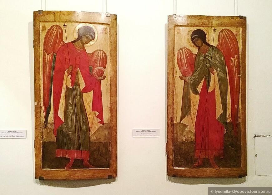 Архангел Михаил и Архангел Гавриил. Конец 16 – начало 17 века.