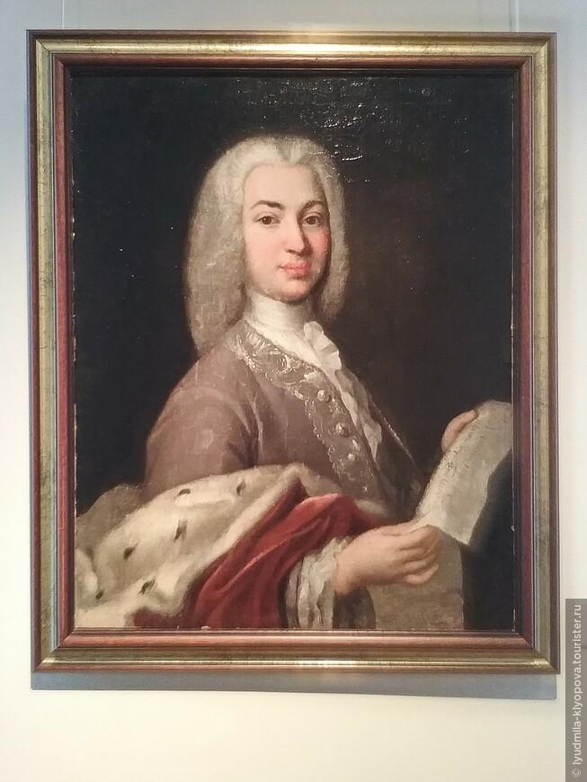 Портрет князя и великого поэта Антиоха Кантемира кисти неизвестного художника.