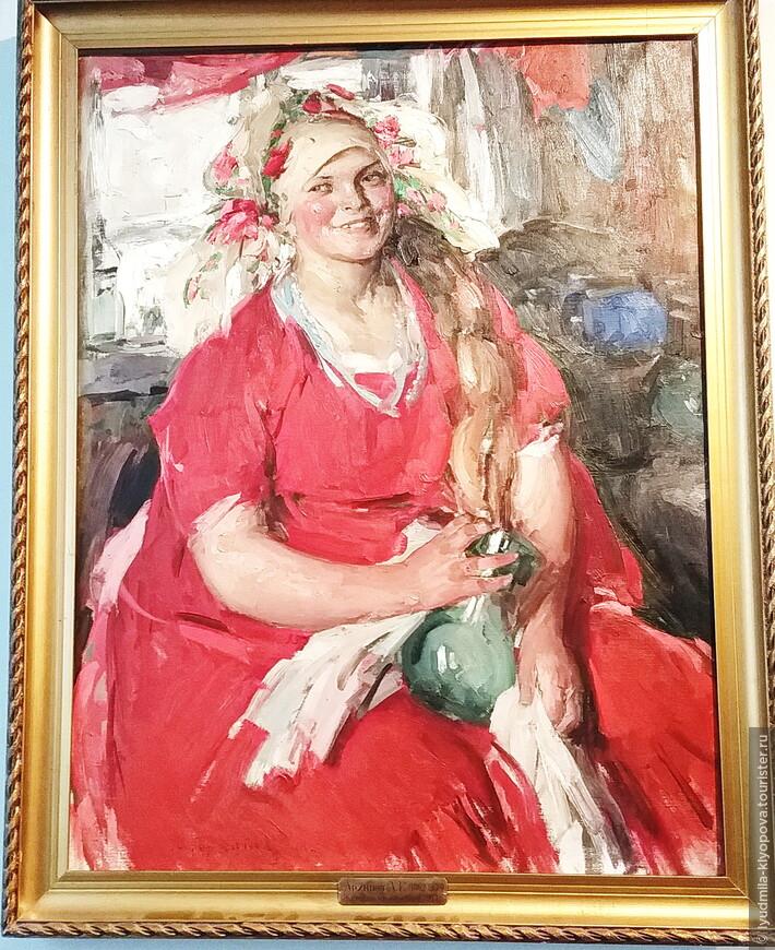 А.Е. Архипов. Женщина в красном. Работ Архипова в музее довольно много.